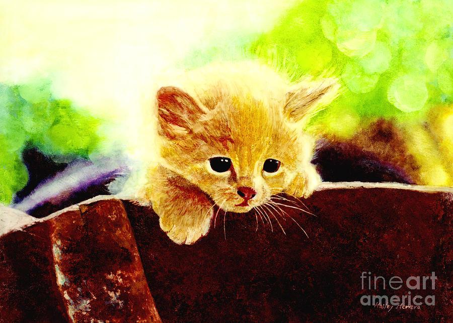 Yellow Kitten Painting