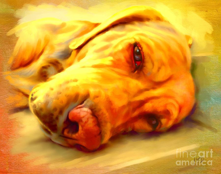 Dog Painting - Yellow Labrador Portrait by Iain McDonald