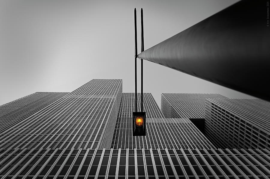 Architecture Photograph - Yellow Light by Wim Schuurmans