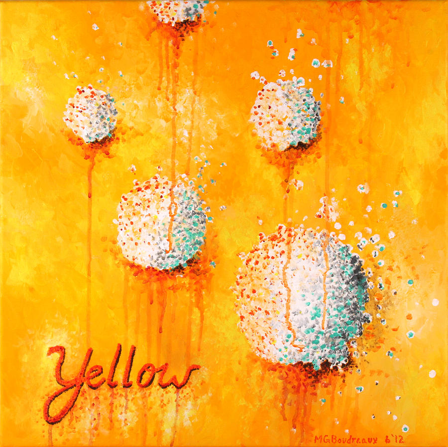 Abstract Painting - Yellow by Michelle Boudreaux