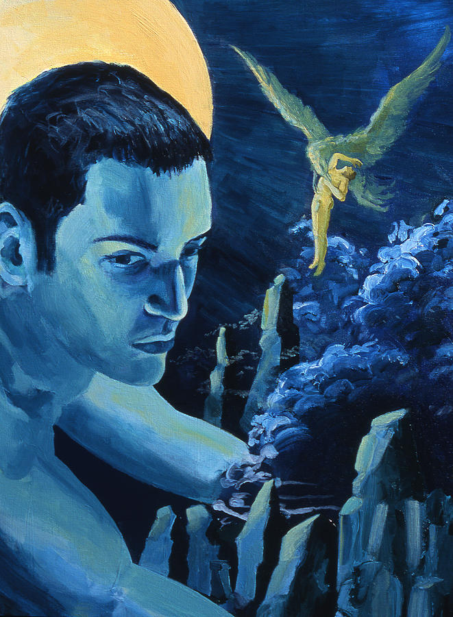 Mythology Painting - Yellow Moon by Rene Capone