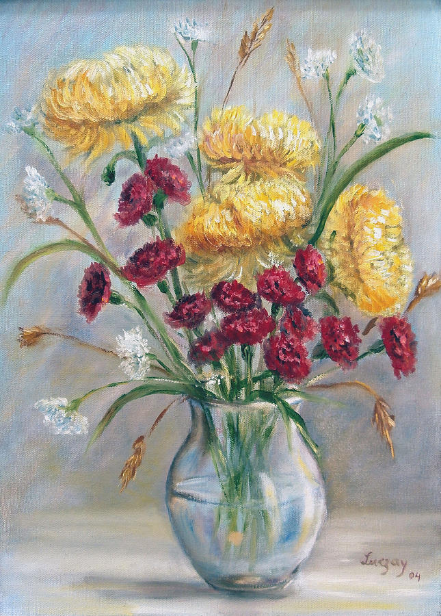 Yellow mums by Katalin Luczay