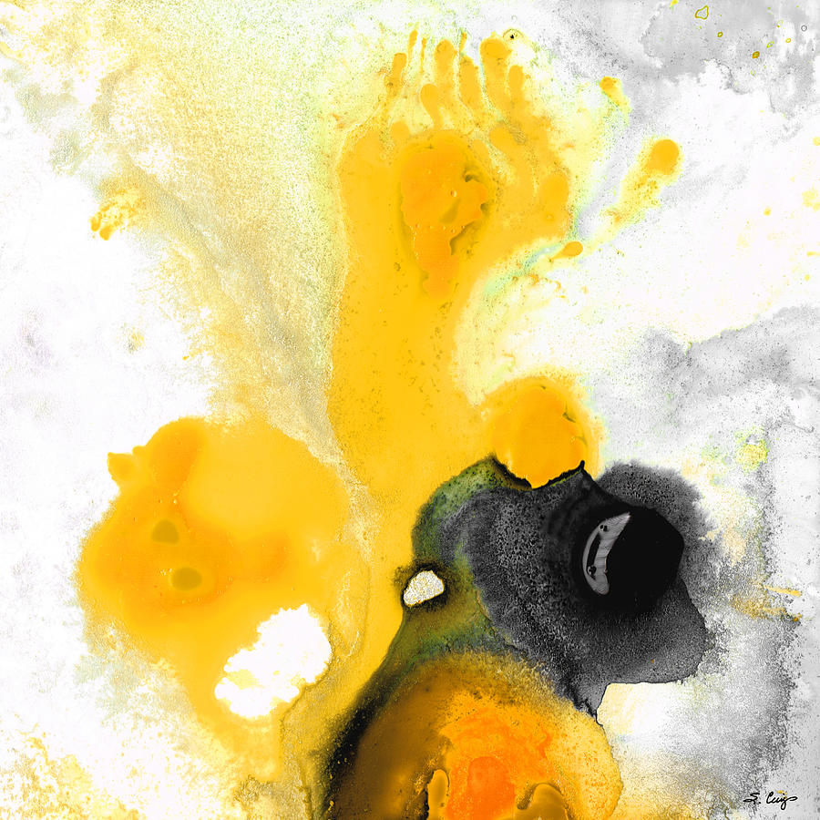 Yellow Painting - Yellow Orange Abstract Art - The Dreamer - By Sharon Cummings by Sharon Cummings