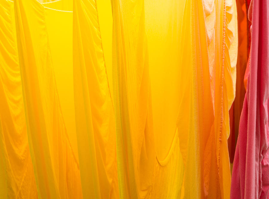 Yellow Orange And Red Bed Sheets Bright And Colorful Photograph by ...