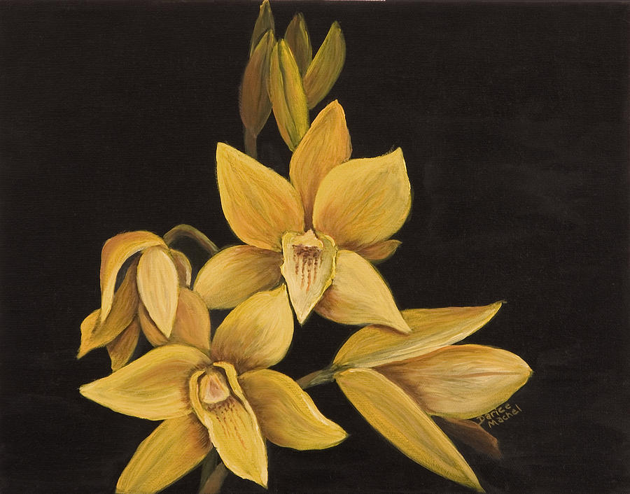 Hawaiian Flower Painting - Yellow Orchid by Darice Machel McGuire