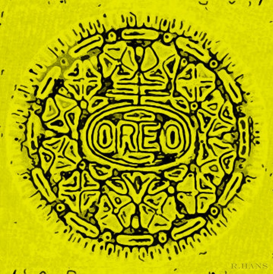 Oreo Photograph - Yellow Oreo by Rob Hans