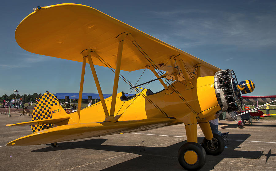 Stearman Photograph - Yellow by Philip Rispin
