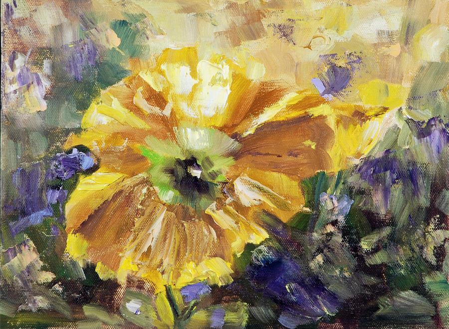 Yellow Poppy Painting by Claudia Davis