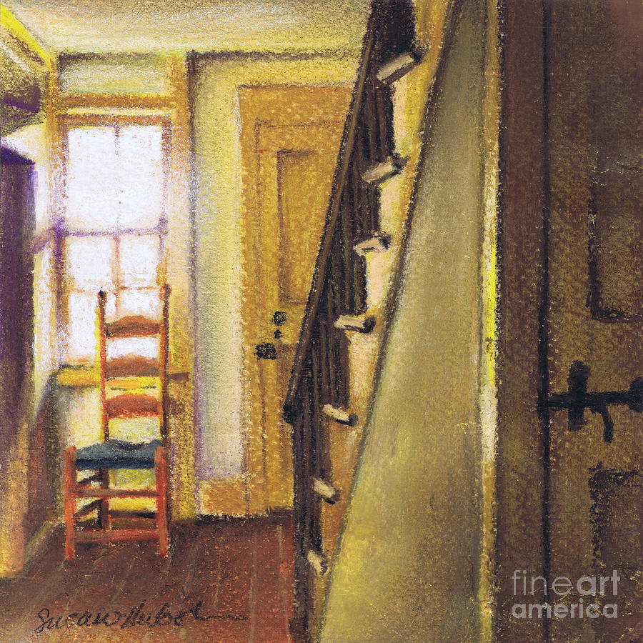 Yellow Painting - Yellow Room by Susan Herbst