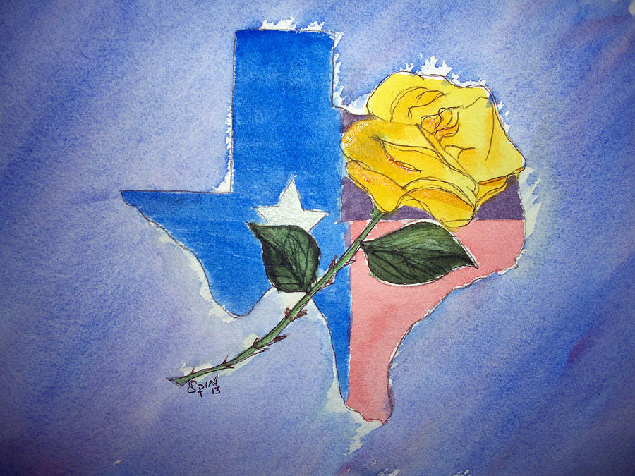 Yellow rose of texas painting by spencer joyner spin painting yellow rose of texas by spencer joyner mightylinksfo
