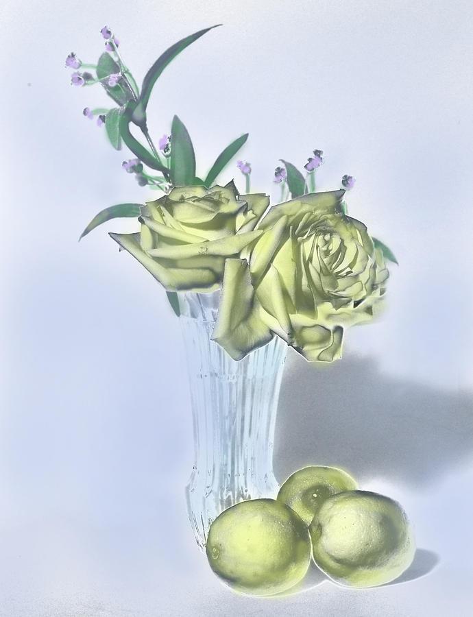 Yellow Rose Painting Digital Art