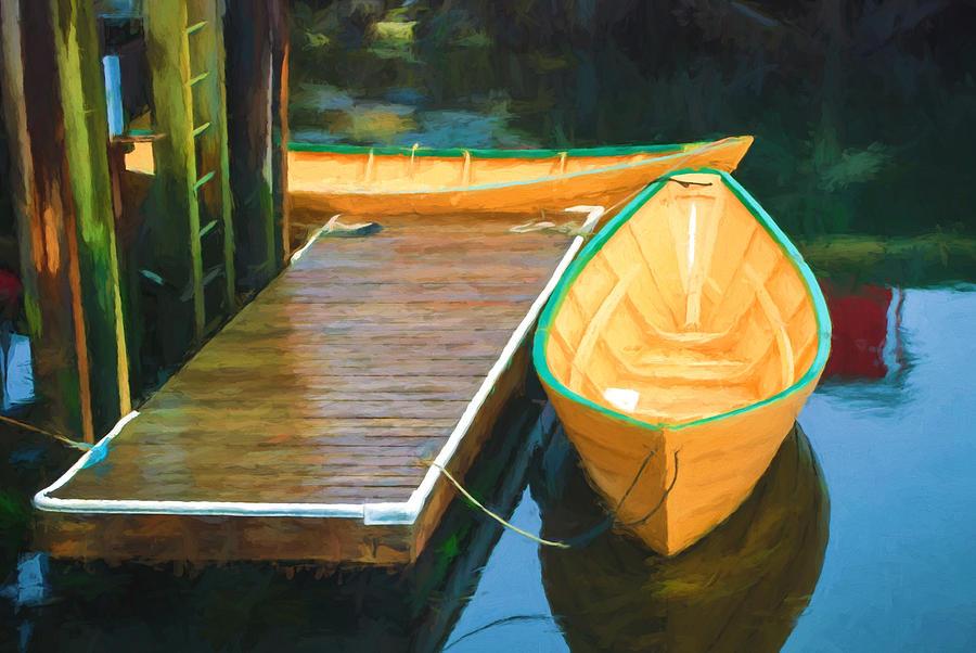 Lunenburg Photograph - Yellow Rowboats by Boss Photographic