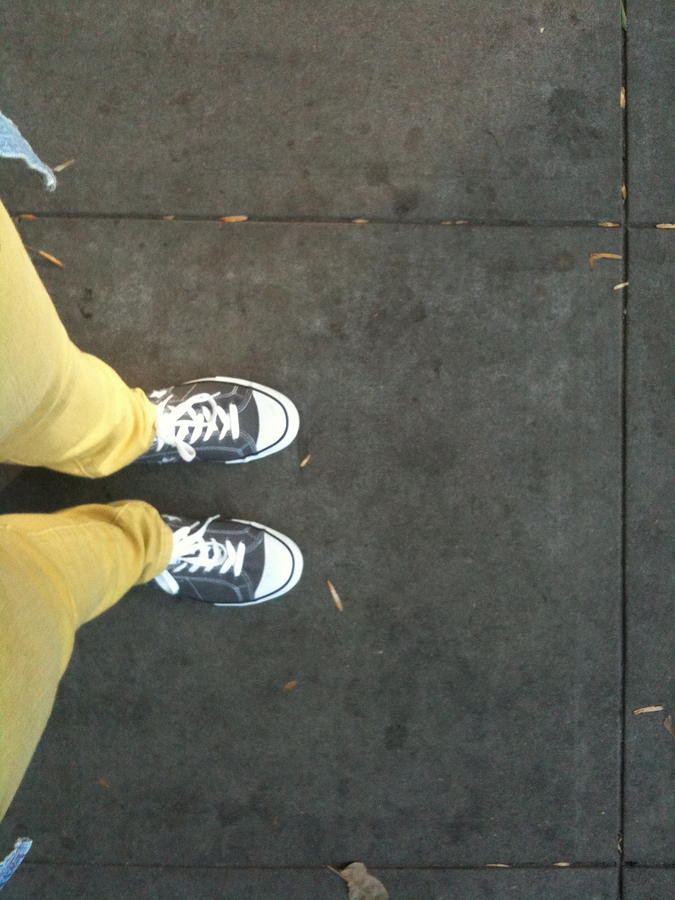 Sneakers Photograph - Yellow by Selia Hansen