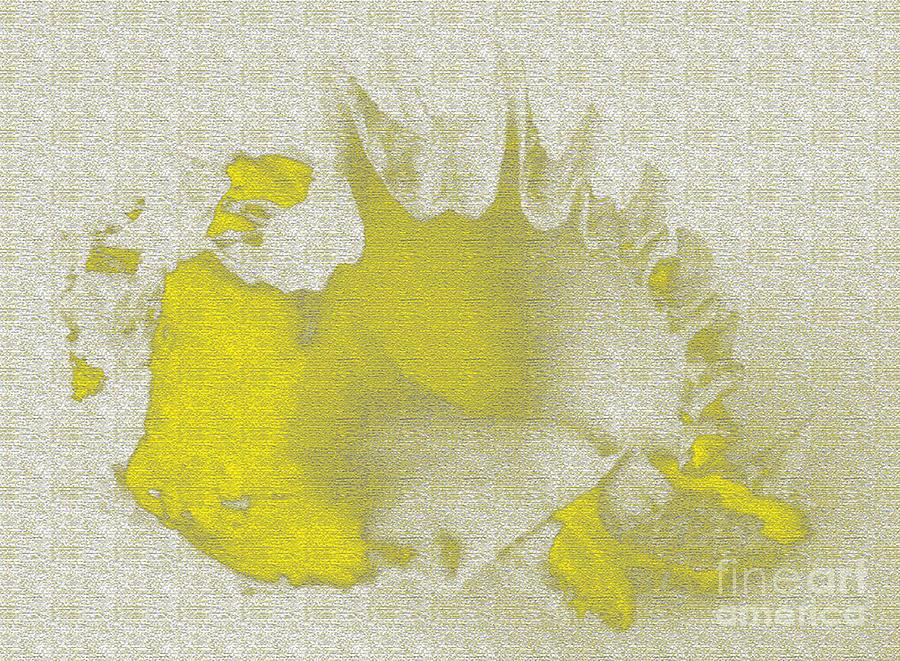 Yellow Digital Art - Yellow Shell by Carol Lynch