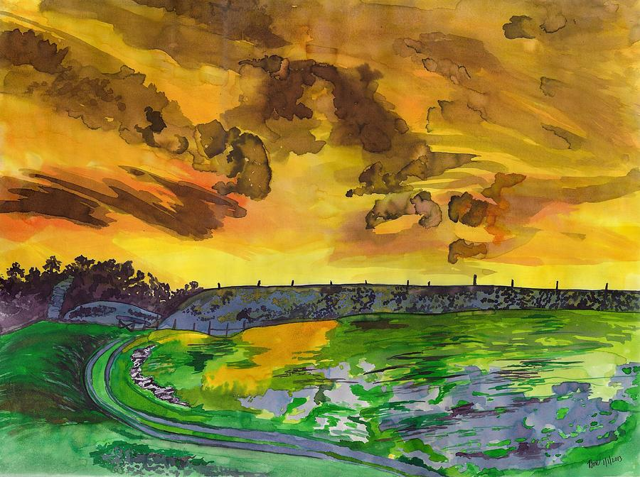 Sunrise Painting - Yellow Skies by Beverly Marshall