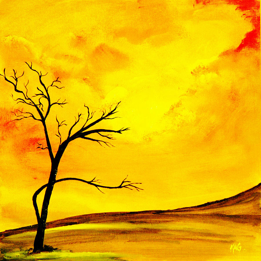 Yellow Sky Painting by Gina Cooper
