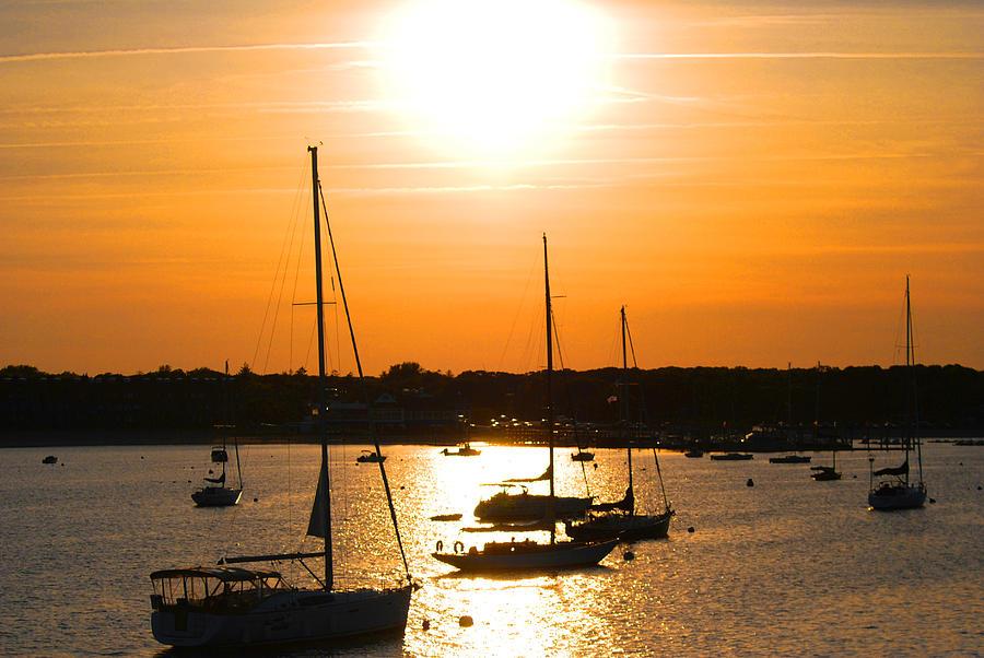 Cape Cod Photograph - Yellow Sky by Lorena Mahoney