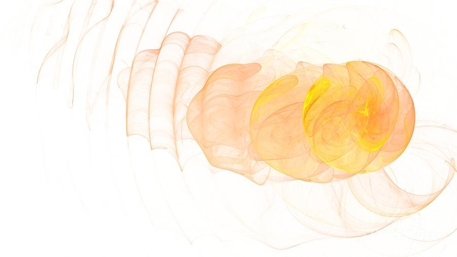 Yellow Digital Art - Yellow Splash by Mark Bowden