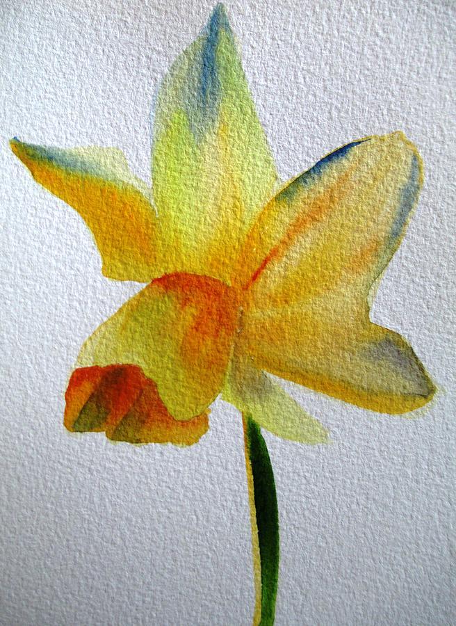 Daffodil Painting - Yellow Spring Daffodil by Sacha Grossel