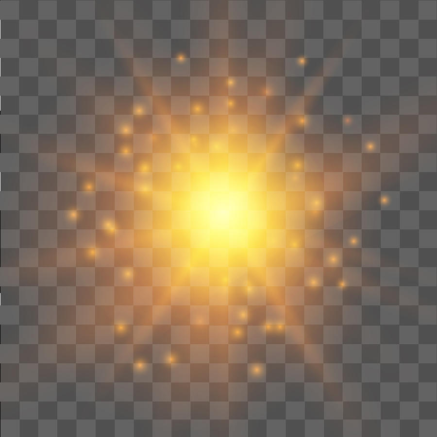 Yellow Star Light Effect On Transparent Background  Glow Light Effect   Vector  by AzFree