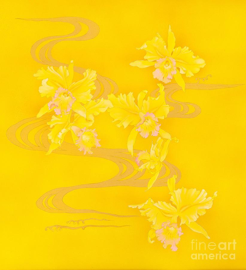 Yellow Stream Digital Art by Haruyo Morita