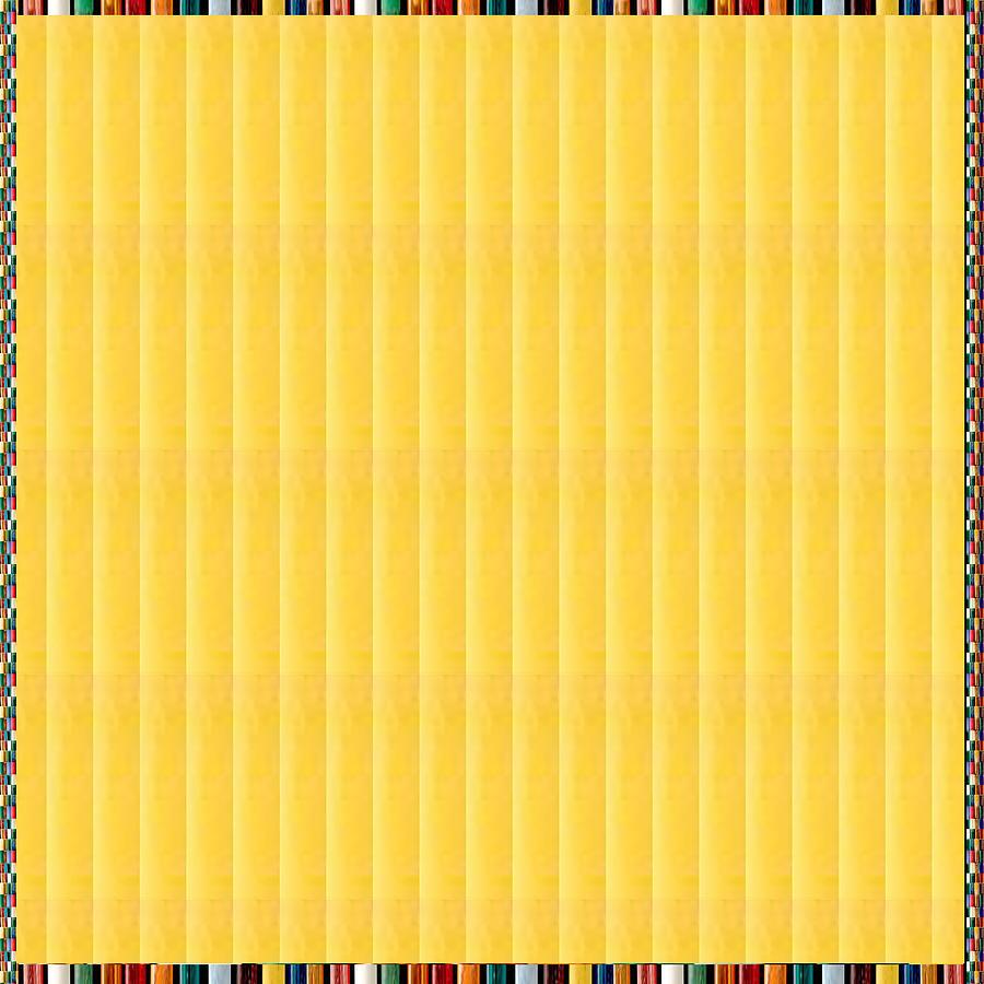 Yellow Stripes Energy Print Mixed Media