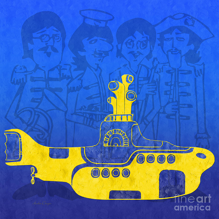 Yellow Submarine Digital Art by Andee Design