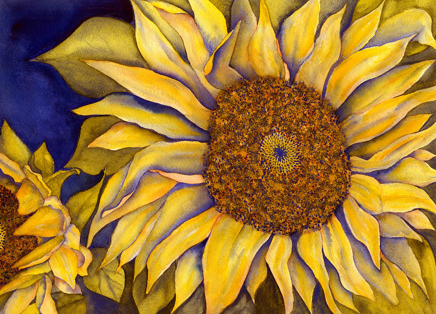 Sunflower Painting Painting - Yellow Sunflower by Diane Ferron