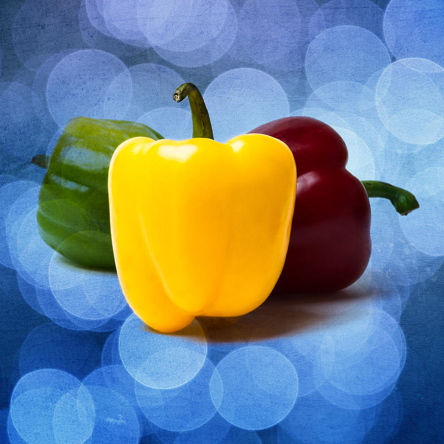 Yellow Sweet Pepper - Square - Textured Photograph by Alexander Senin