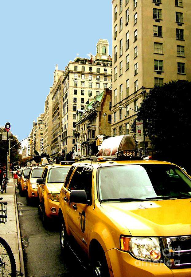 New York City Photograph - Yellow Taxis by Claudette Bujold-Poirier