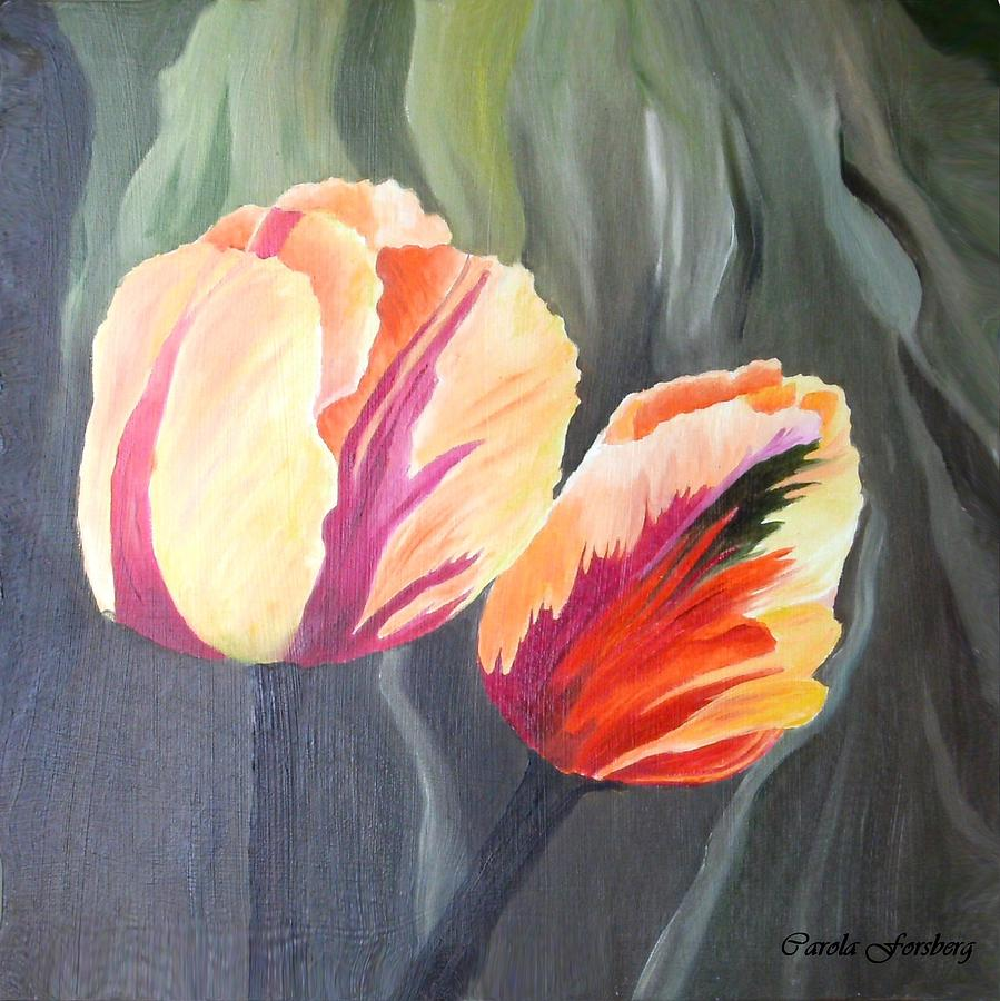 Yellow Painting - Yellow Tulips by Carola Ann-Margret Forsberg
