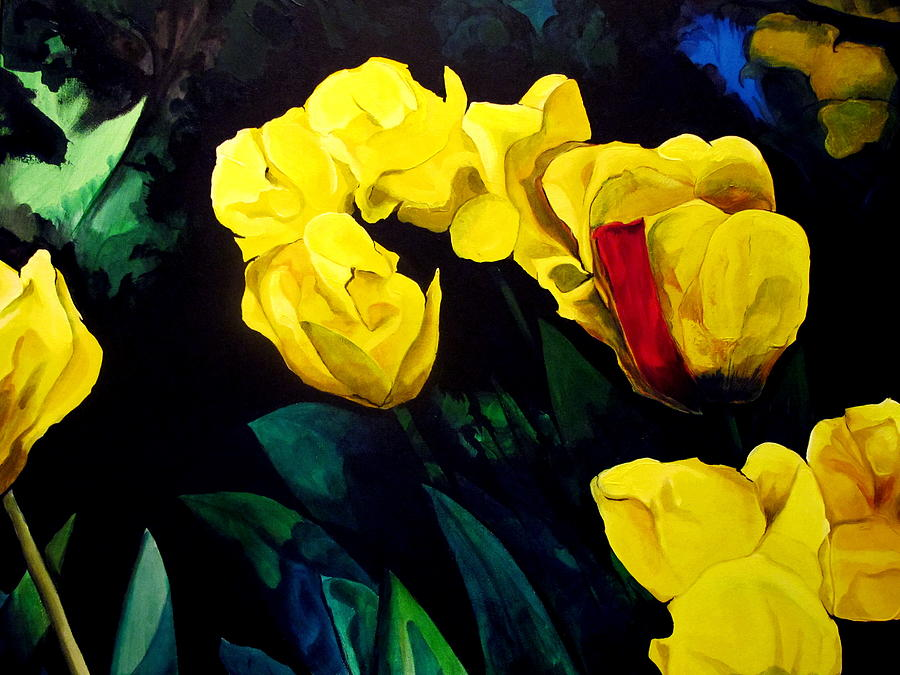 Yellow Tulips by John  Duplantis