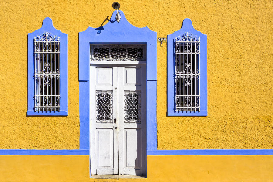 Yellow Walls And Moorish Architecture In Mexico Photograph by Mark E ...