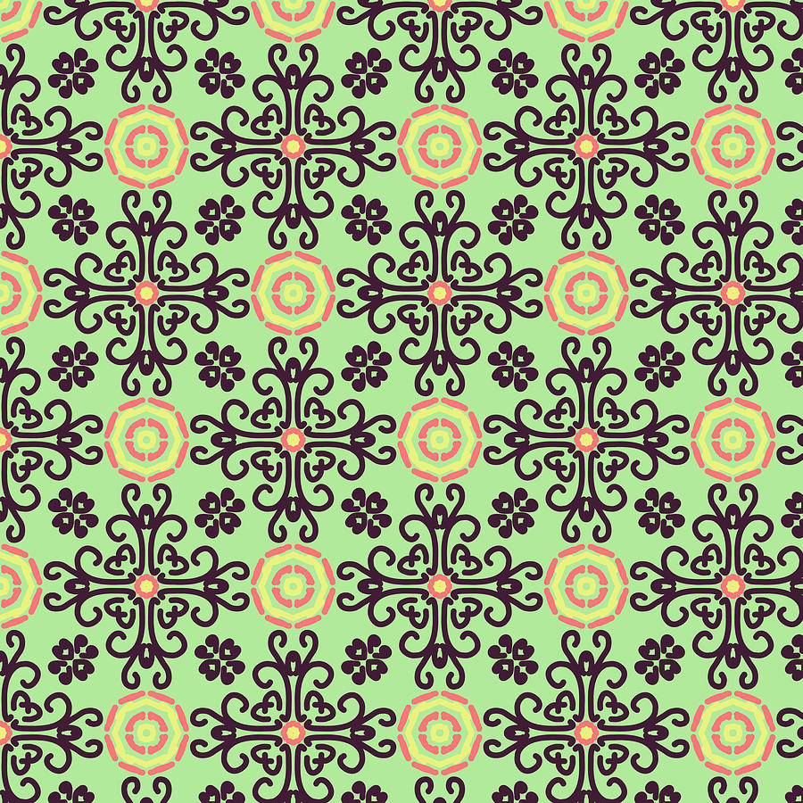 Yellowpink With A Touch Of Green Tapestry - Textile by ...