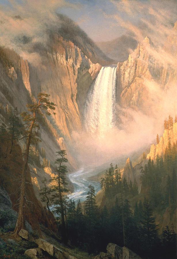 Albert Bierstadt Digital Art - Yellowstone by Albert Bierstadt