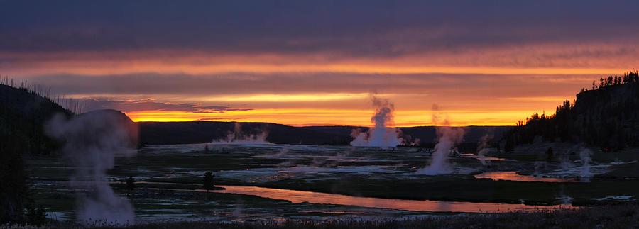 Hot Pots Photograph - Yellowstone by Darryl Wilkinson