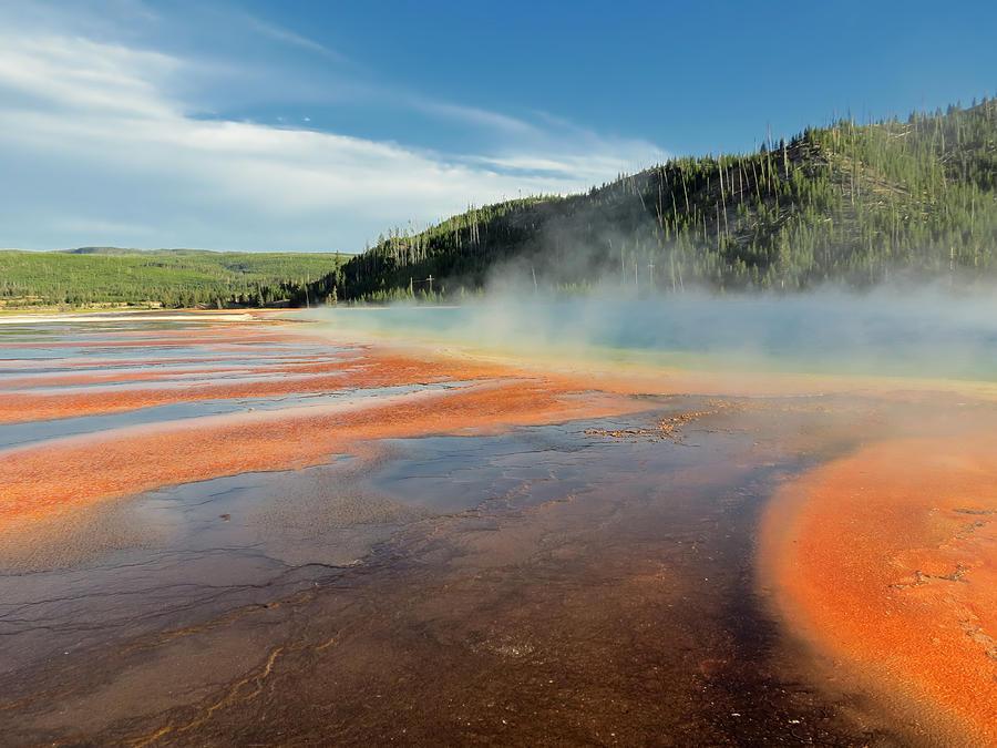 Geyser Photograph - Yellowstone Geyser by Mountain Dreams