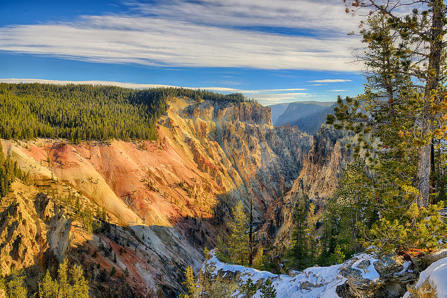 Yellowstone Photograph - Yellowstone Grand Canyon East View by Greg Norrell