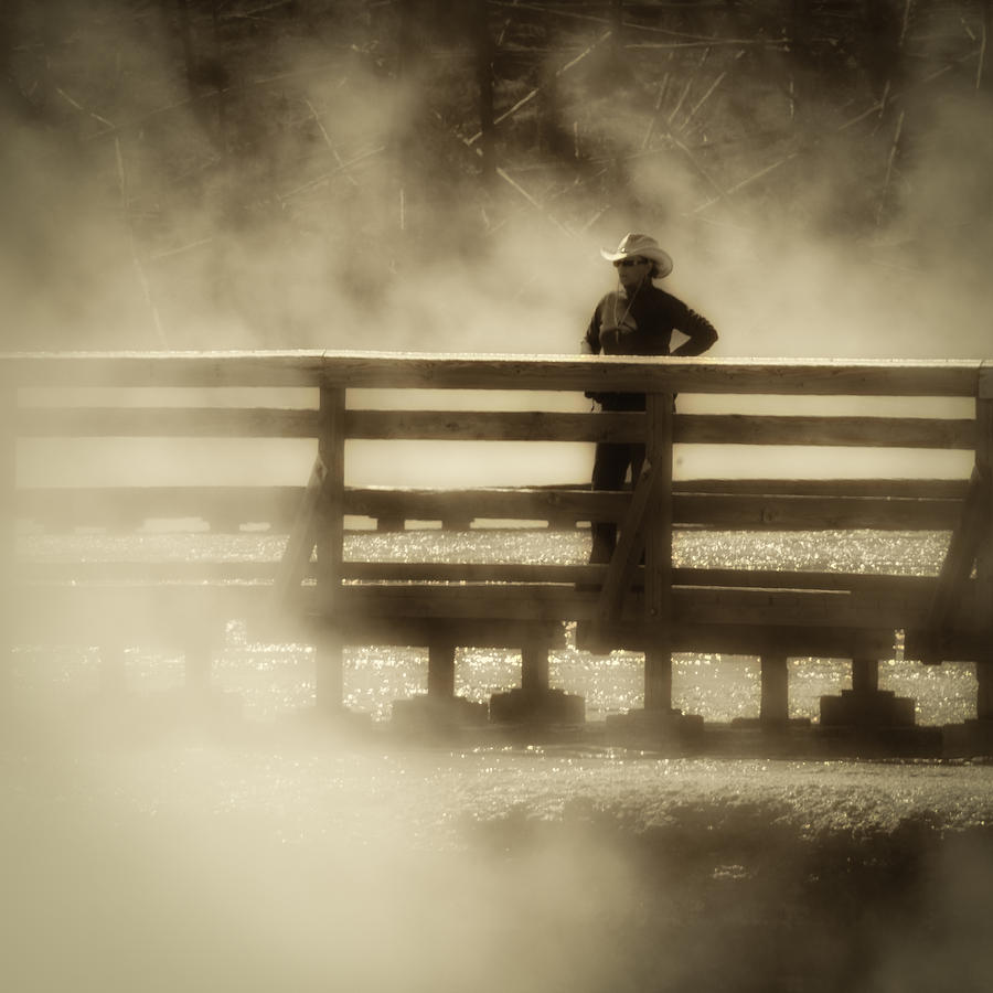 Yellowstone Hot Spring Sepia by Ron White