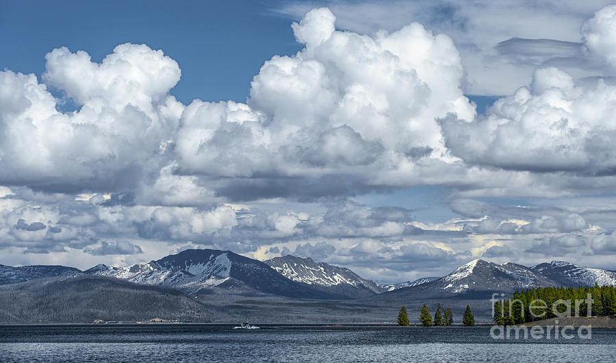 Yellowstone Photograph - Yellowstone Lake Cloudscape by Sandra Bronstein
