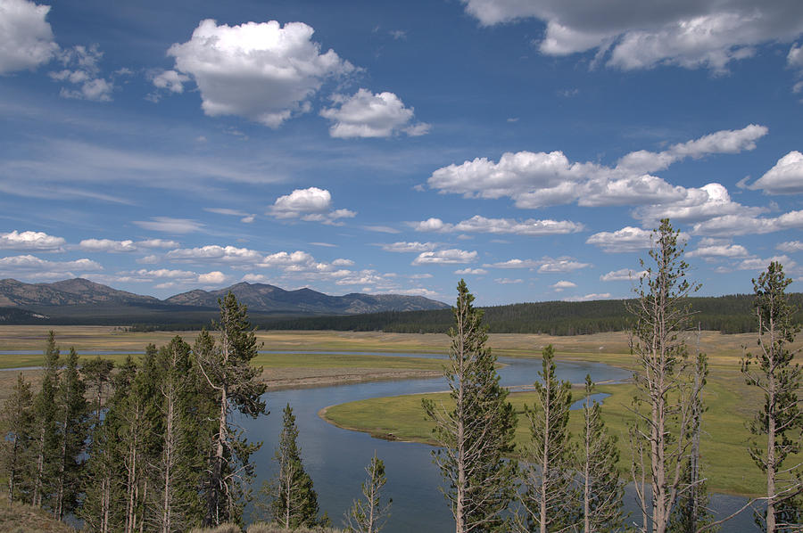 River Photograph - Yellowstone River Through The Hayden Valley by Frank Madia