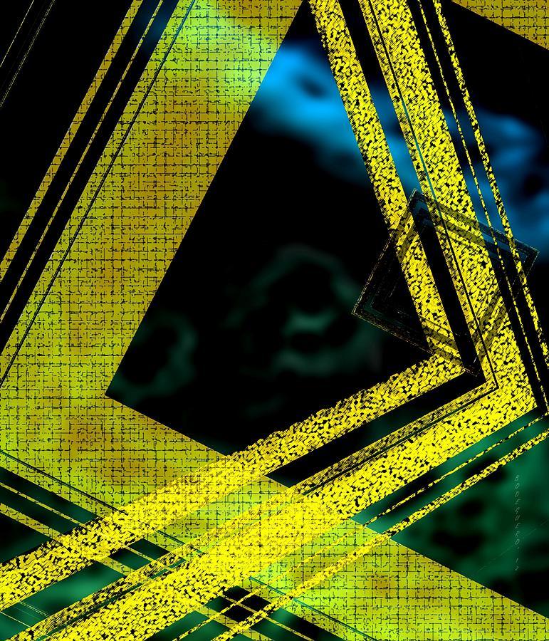 Digital Art Digital Art - Yelow And Blue Digital Art by Mario Perez
