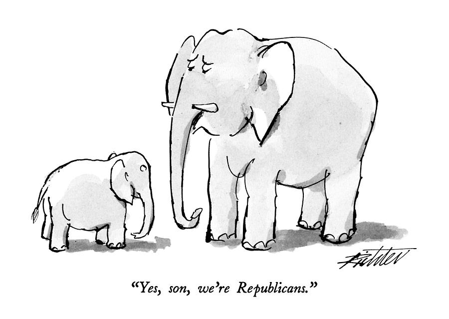 Yes, Son, Were Republicans Drawing by Mischa Richter