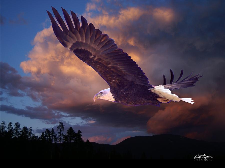 Eagles Digital Art - Yeshua Is Calling by Bill Stephens