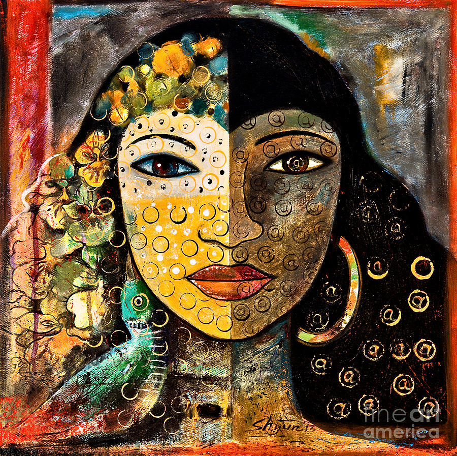 Woman Painting - Yesterday And Today by Shijun Munns