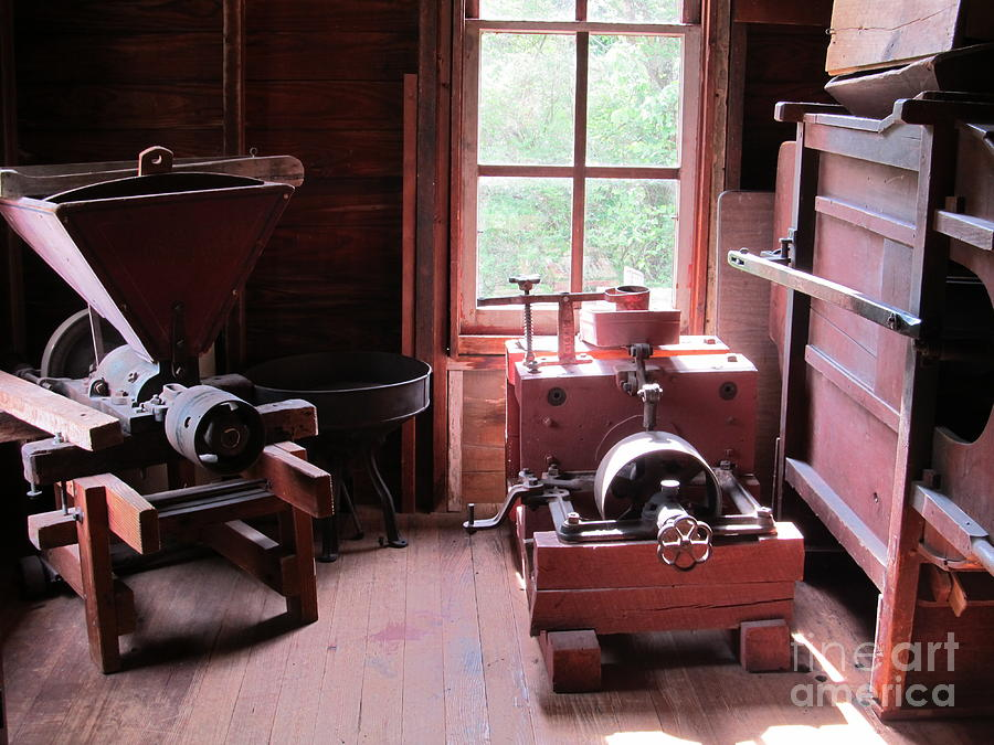 Machinery Photograph - Yesteryears by Tina M Wenger