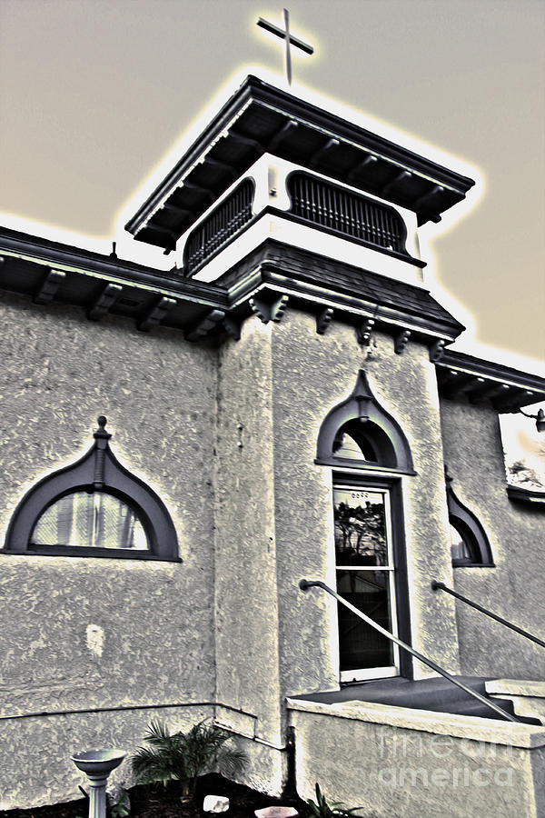 Chino Photograph - Yet Another Spooky Looking Church In Chino by Gregory Dyer