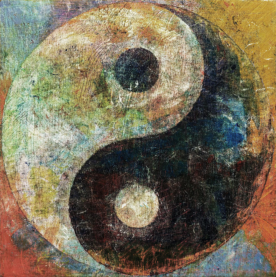 Well known Yin And Yang Painting by Michael Creese QT26