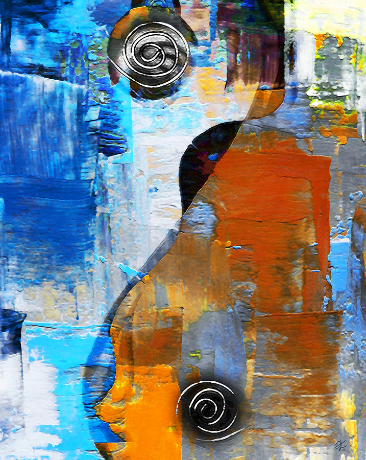 Blue Painting - Yin Yang _ Equilibrium by Zoia  Luecht