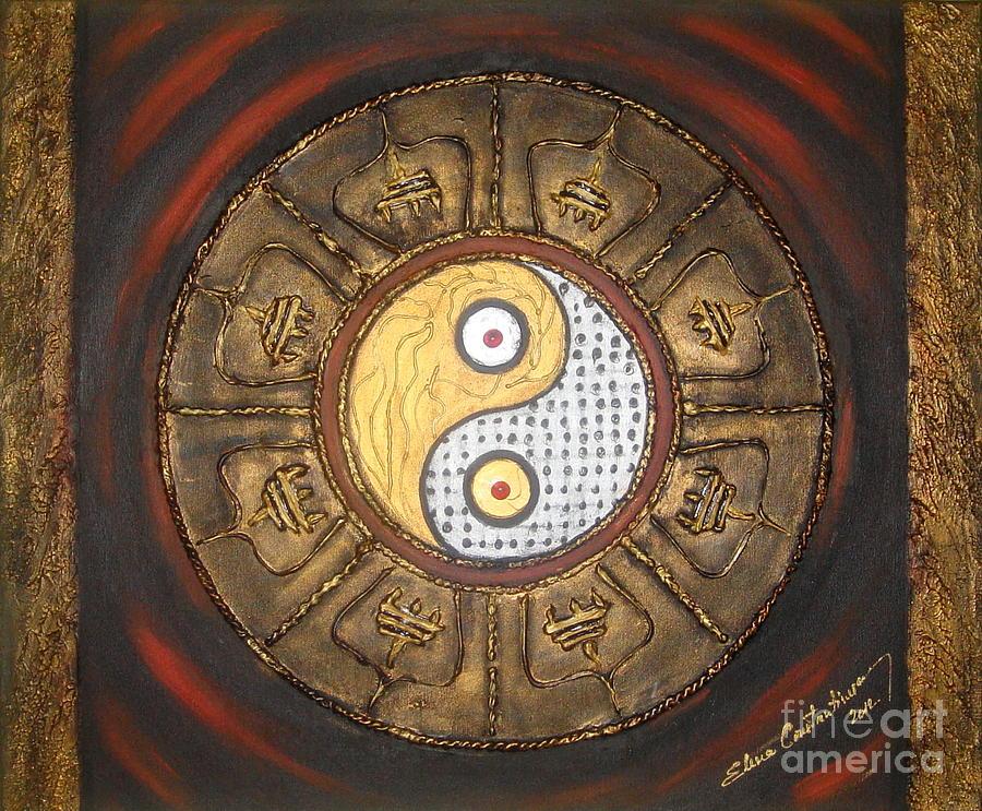 Yin Yang Painting - Yin Yang Balance by Elena  Constantinescu